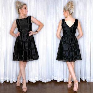 Black Fit Flare Dress